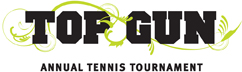 top gun tennis tournament logo